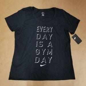 Nike Black Graphic Short Sleeve T-Shirt Women's XL
